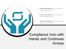 Compliance Icon With Hands And Continues Arrows
