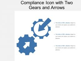 Compliance Icon With Two Gears And Arrows