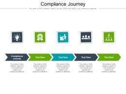 Compliance Journey Ppt Powerpoint Presentation Outline Infographics Cpb
