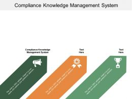 Compliance Knowledge Management System Ppt Powerpoint Presentation Image Cpb