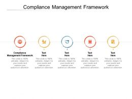 Compliance Management Framework Ppt Powerpoint Presentation Pictures Slides Cpb