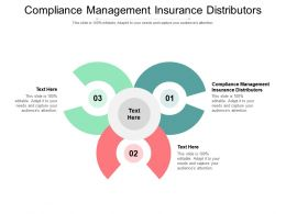 Compliance Management Insurance Distributors Ppt Powerpoint Presentation Styles Structure Cpb