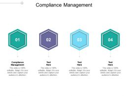 Compliance Management Ppt Powerpoint Presentation Slide Cpb