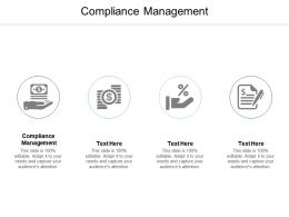 Compliance Management Ppt Powerpoint Presentation Slides Microsoft Cpb