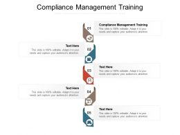 Compliance Management Training Ppt Powerpoint Presentation Professional Brochure Cpb