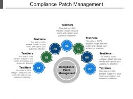 Compliance Patch Management Ppt Powerpoint Presentation Icon Templates Cpb
