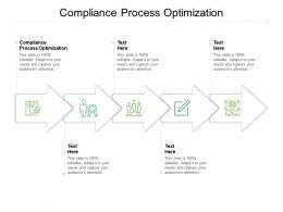 Compliance Process Optimization Ppt Powerpoint Presentation Slides Format Cpb