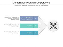 Compliance Program Corporations Ppt Powerpoint Presentation Ideas Slides Cpb