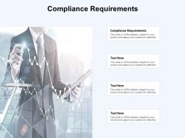 Compliance Requirements Ppt Powerpoint Presentation Styles Slide Cpb