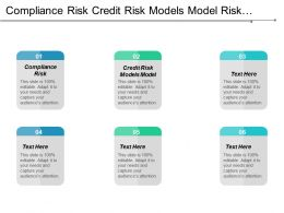 Compliance Risk Credit Risk Models Model Risk Management Cpb