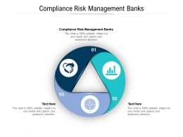 Compliance Risk Management Banks Ppt Powerpoint Presentation Slide Cpb
