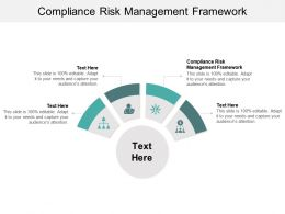 Compliance Risk Management Framework Ppt Powerpoint Presentation Icon Introduction Cpb