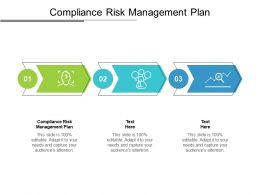 Compliance Risk Management Plan Ppt Powerpoint Presentation Slides Diagrams Cpb