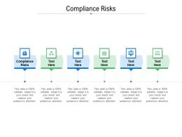 Compliance Risks Ppt Powerpoint Presentation Infographic Template Portfolio Cpb