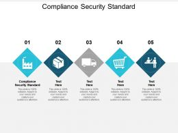 Compliance Security Standard Ppt Powerpoint Presentation Gallery Ideas Cpb