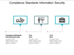 Compliance Standards Information Security Ppt Powerpoint Presentation Outline Cpb