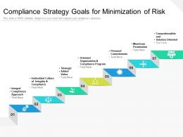 Compliance Strategy Goals For Minimization Of Risk