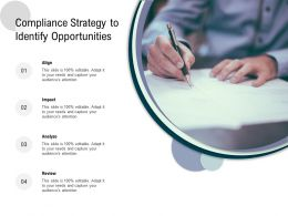 Compliance Strategy To Identify Opportunities