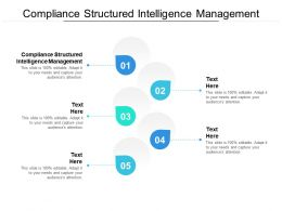 Compliance Structured Intelligence Management Ppt Powerpoint Presentation Inspiration Influencers Cpb