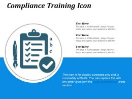 Compliance Training Icon Powerpoint Shapes