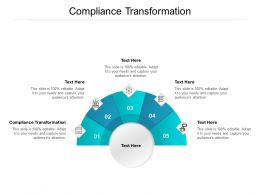 Compliance Transformation Ppt Powerpoint Presentation Professional Graphics Cpb