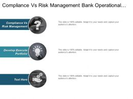 Compliance Vs Risk Management Bank Operational Risk Management Cpb