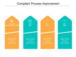 Compliant Process Improvement Ppt Powerpoint Presentation Outline Guide Cpb
