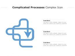 Complicated Processes Complex Icon