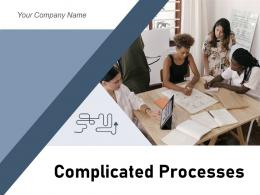 Complicated Processes Puzzle Arrows Business Workflow Circle Circular Direction