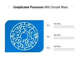 Complicated Processes With Circular Maze