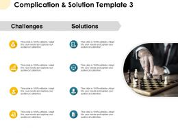 Complication And Solution Template Chess Ppt Powerpoint Presentation Pictures Model