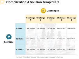 Complication And Solution Template Solutions Ppt Powerpoint Presentation Pictures Ideas