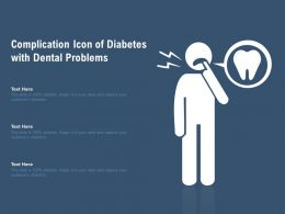 Complication Icon Of Diabetes With Dental Problems