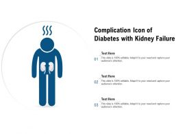 Complication Icon Of Diabetes With Kidney Failure