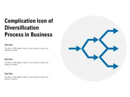 Complication Icon Of Diversification Process In Business