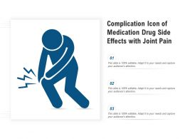 Complication Icon Of Medication Drug Side Effects With Joint Pain