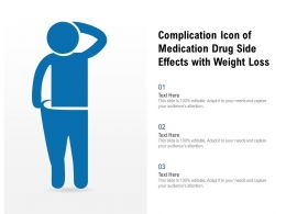 Complication Icon Of Medication Drug Side Effects With Weight Loss