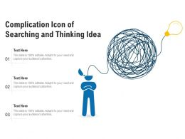 Complication Icon Of Searching And Thinking Idea
