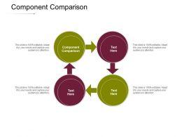 Component Comparison Ppt Powerpoint Presentation Infographics Images Cpb
