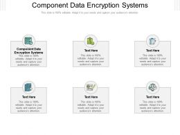 Component Data Encryption Systems Ppt Powerpoint Presentation Infographics Summary Cpb