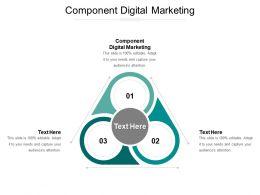 Component Digital Marketing Ppt Powerpoint Presentation Model Elements Cpb