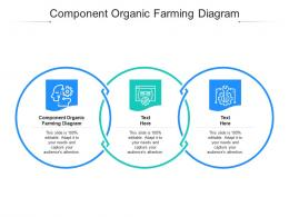 Component Organic Farming Diagram Ppt Powerpoint Presentation Infographics Display Cpb