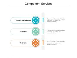 Component Services Ppt Powerpoint Presentation Pictures Inspiration Cpb