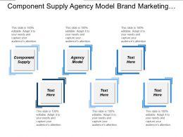 Component Supply Agency Model Brand Marketing Leadership Strategic Management Cpb