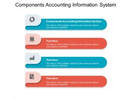 Components Accounting Information System Ppt Powerpoint Presentation Infographics Slideshow Cpb