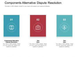 Components Alternative Dispute Resolution Ppt Powerpoint Presentation File Topics Cpb