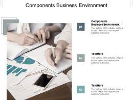 Components Business Environment Ppt Powerpoint Presentation Summary Portfolio Cpb