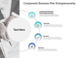 Components Business Plan Entrepreneurship Ppt Powerpoint Presentation Inspiration Clipart Cpb