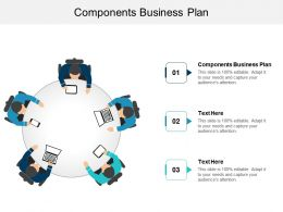Components Business Plan Ppt Powerpoint Presentation File Introduction Cpb