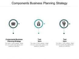 Components Business Planning Strategy Ppt Powerpoint Presentation Gallery Display Cpb